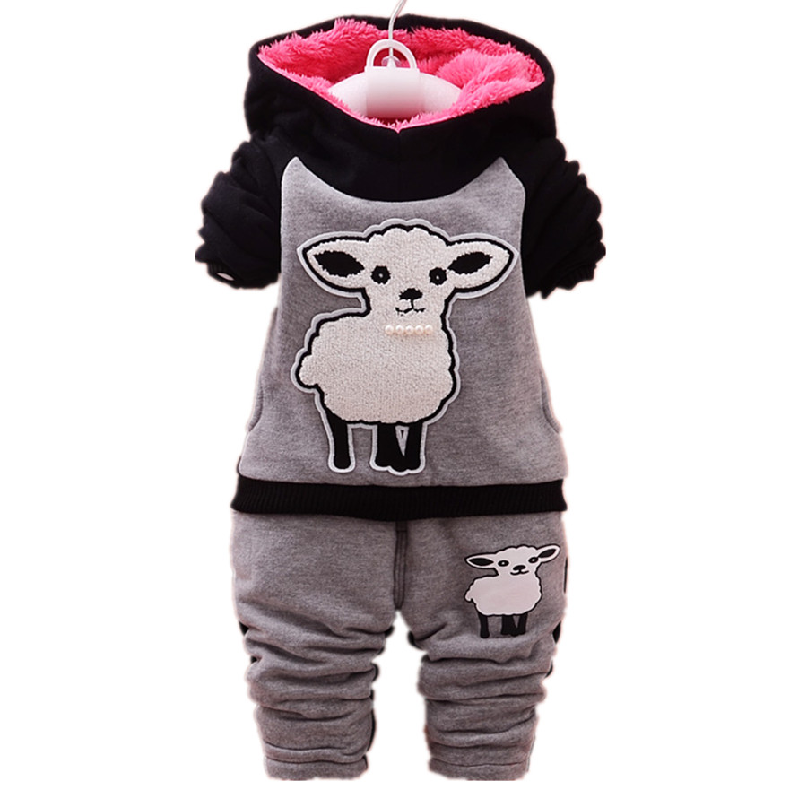 Fashion Children boys girls spring autumn clothing sets cartoon little sheep kids casual hooded Sweatshirts+trousers sport suit<br><br>Aliexpress