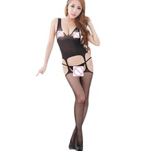 Buy WOMAIL delicate  Meia Women charming Lingerie Open Crotch Hollow Harnesses Tight Pajama Stocking Maio W25