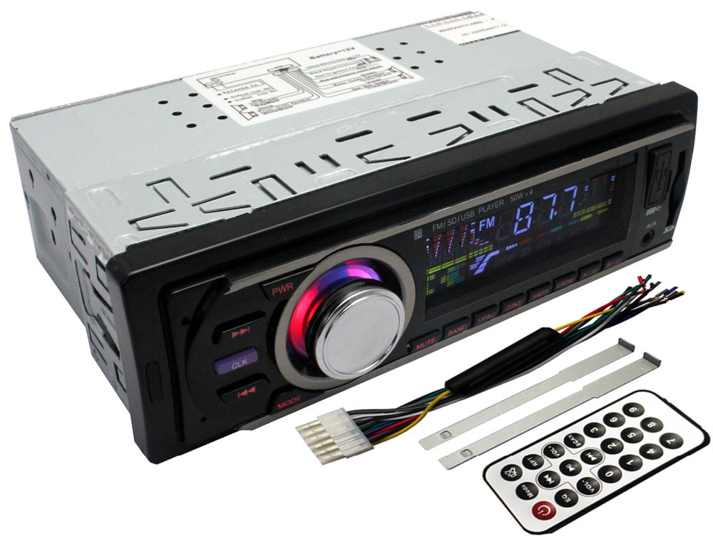 1 din LED Display Car radio Stereo With mp3 player Card/Audio USB AM FM/AUX Input Receiver & Remote Control(China (Mainland))