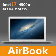 Airbook 13.3 Inch Blade UItraBook Dreambook Windows 7 8.1 Thin light fast cpu Intel i7 4500u Silver Metal Case RAM 8GB 256GB SSD(China (Mainland))