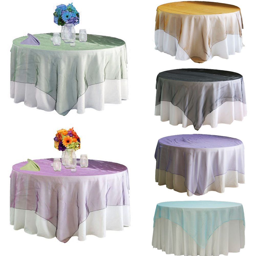 "2015 Fashion style Home table runner 10pcs/lot 180cmx180cm (72""X72"") round shape Wedding Banquet Party Tablecloth Overlay(China (Mainland))"