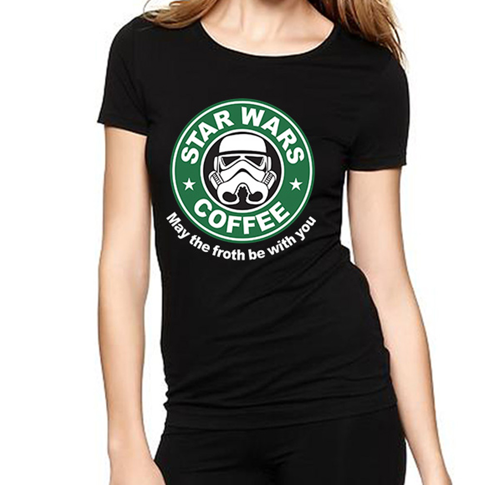 star wars t shirts women darth vader womens shirt cotton short sleeve o neck woman tees tops. Black Bedroom Furniture Sets. Home Design Ideas