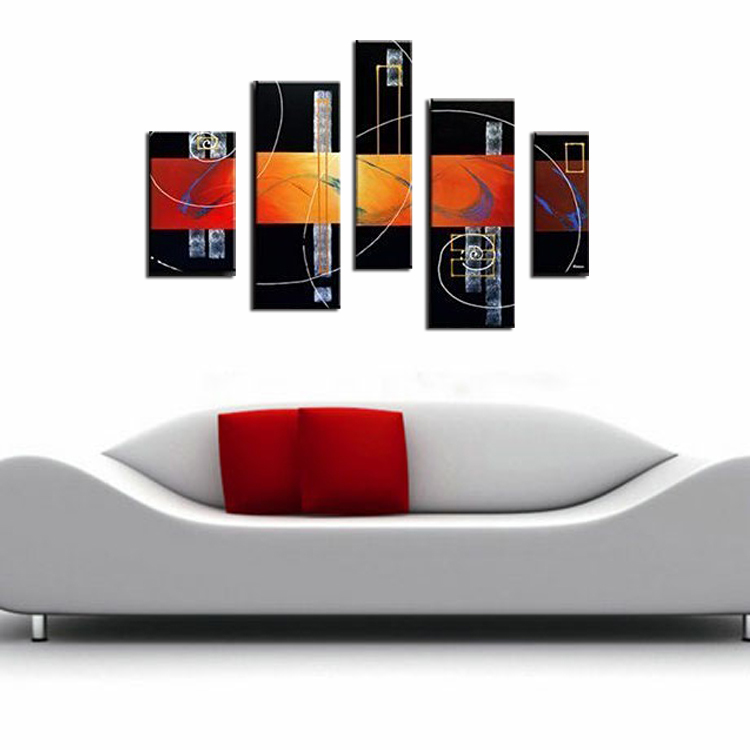 5 Panels Huge pt258 B2-SMALL Living Room Drawing room Modern Contemporary Abstract Sexy Character Oil(China (Mainland))