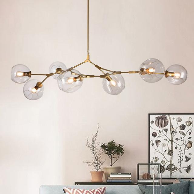 Lindsey Adelman Globe Branching Bubble Glass Pendent Light