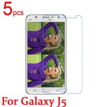 5pcs Ultra Clear LCD Screen Protector Guard Cover Protective Film For samsung Galaxy J5 J500 J500F Film ( Film  +  cloth)