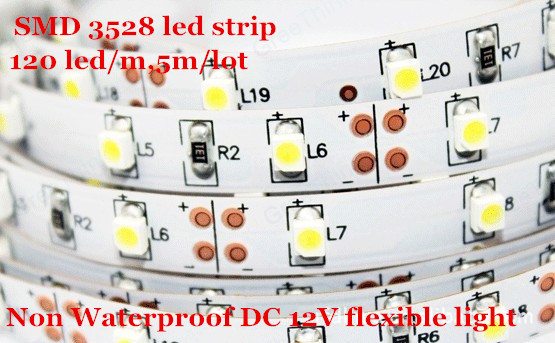 600 Leds 5M Led Strip lights SMD 3528 Non Waterproof DC 12V flexible light white/warm white/blue/green/red/yellow/RGB(China (Mainland))