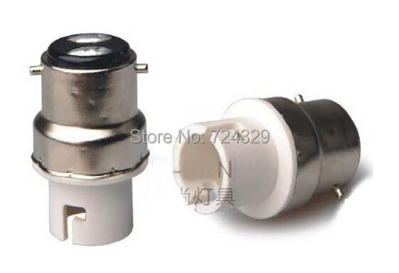 lamp holders New LED Bulb Bases converter B22 to BA15D Lamp bases Lamp Adapter converters 60pcs free shipping(China (Mainland))