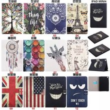 Fashion Pattern leather smart case For iPad mini 4 Stand flip Smart Cover for apple ipad mini 4