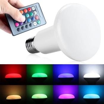 2016 Brand New 220 В 3 Вт E27 СВЕТОДИОДНЫЕ Лампы Гриб Свет мини RGB Лампы W/24 Кнопок Пульта Дистанционного Управления Для Горячей продажа