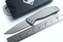 Shirogorov F95 Tactical Flipper 95 plegable Titanium rodamiento exterior caza del cuchillo de bolsillo 9Cr18mov hati cuchillos herramienta EDC