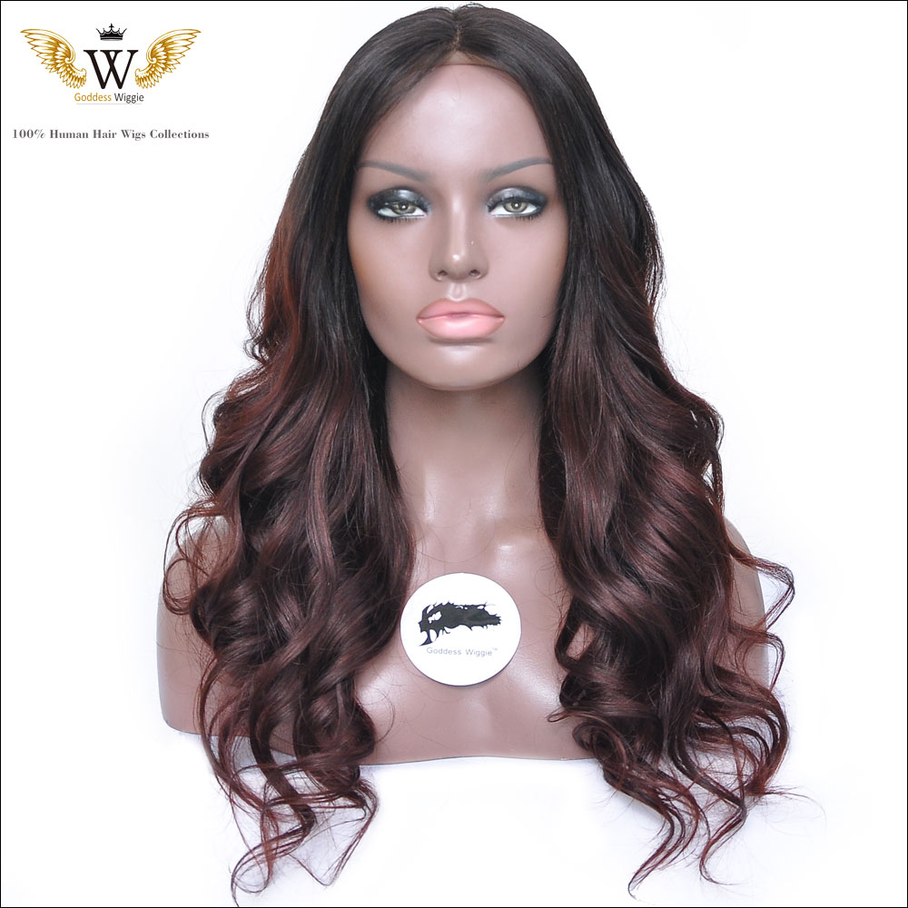 180Density  Human Hair Full Lace Ombre Wigs Glueless/Brazilian Remy Lace Front Wig/Ombre U Part Human Hair Wig African Americans