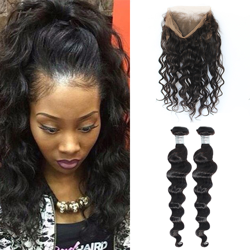 360 Lace Frontal With Bundle Pre Plucked 360 Lace Frontal