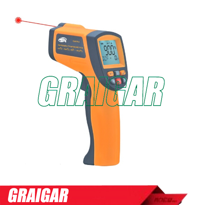Infrared thermometer GM900  Laser pointer for accurate target aiming  Simple one-handed operation <br><br>Aliexpress