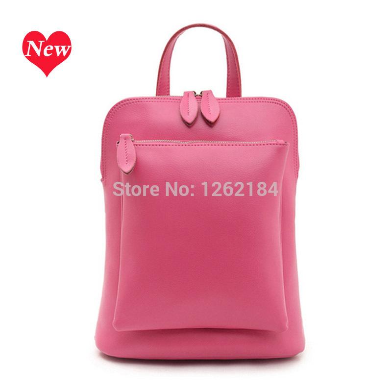 Japan and South Korea 2014 new leather handbag shoulder bag leisure backpack solid laptop bag manufacturers wholesale women<br><br>Aliexpress