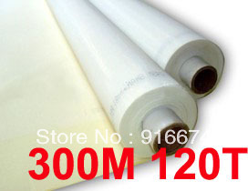 Free shipping Promotion 3 meters 120T 300M polyester silk screen printing mesh 120T 127CM width(China (Mainland))