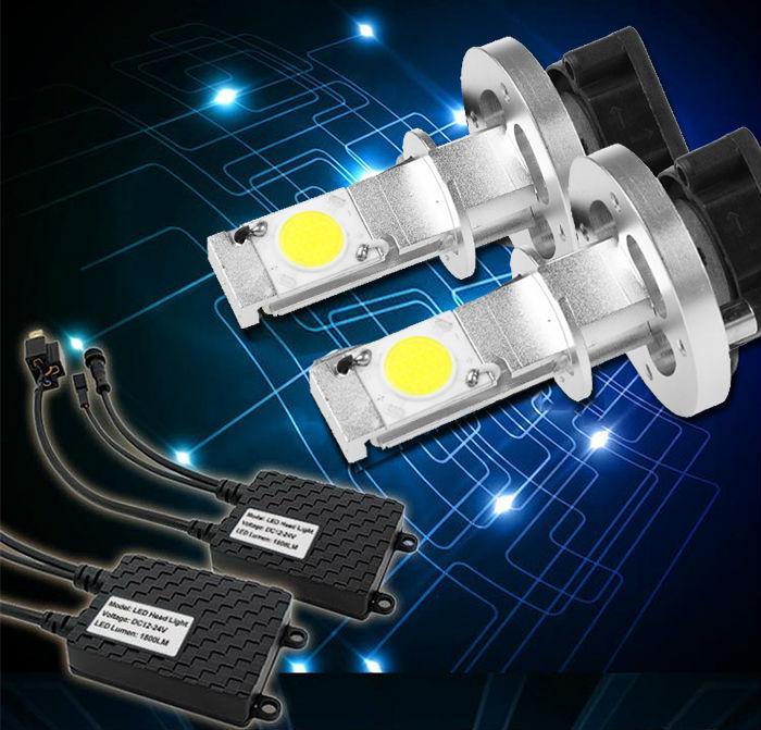 2014 New 1 Set 100% Waterproof 4000LM H1 LED Auto Car Headlight Fog Driving Lamp DRL H1/H3 Led Bulb