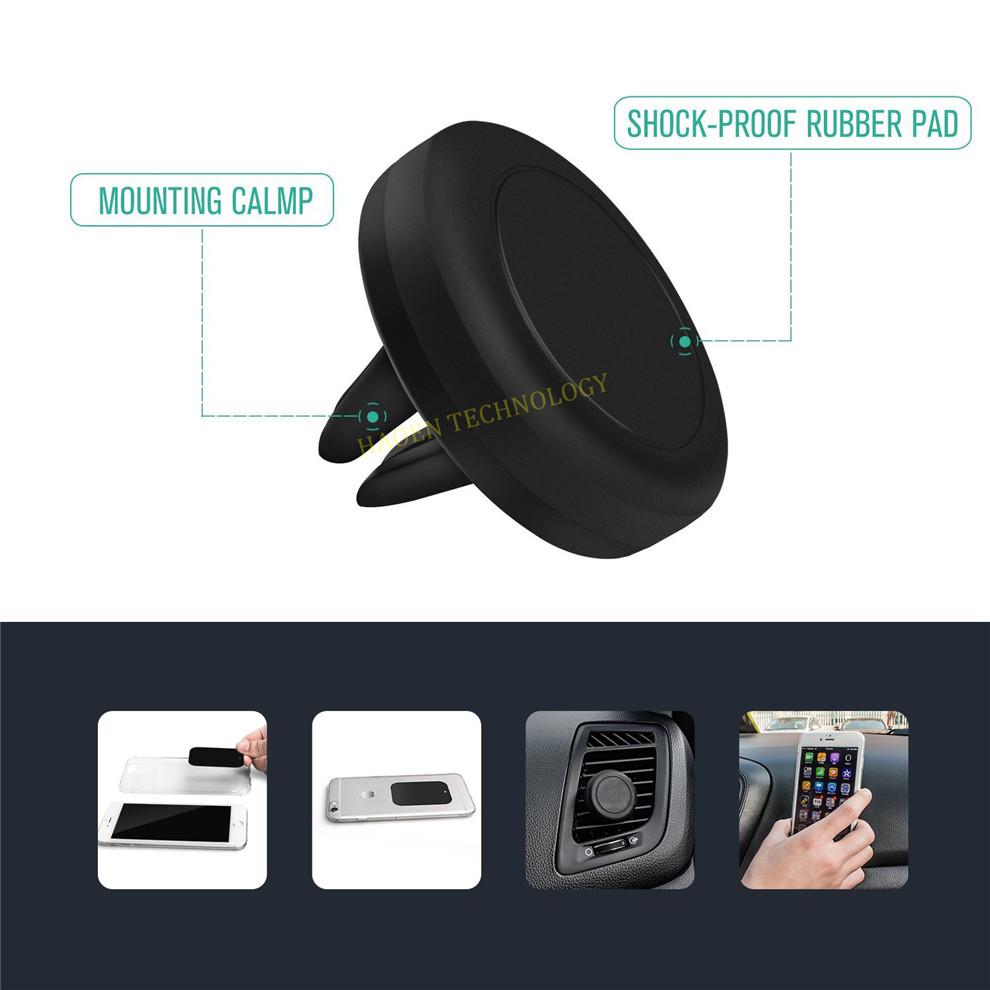 Wholesale Cheap Price Magnetic Air Vent Mount Mobile Phone Holder Car Phone Mount Plastic Cell Phone Holder For Xiaomi Redmi 2(China (Mainland))