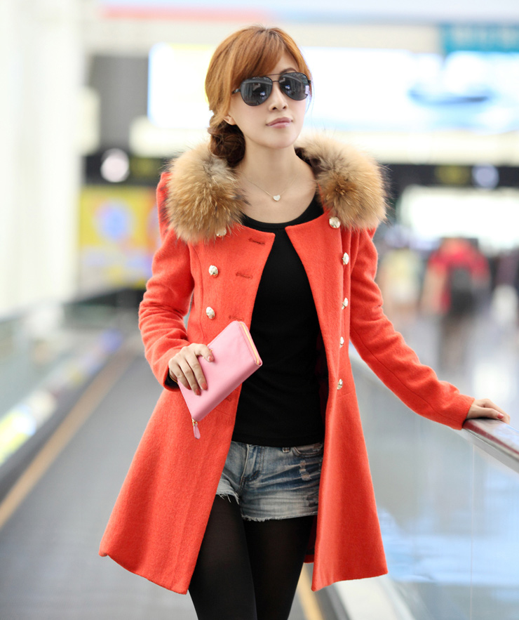 2015 New Fashion Women Spring Coat New Brand Woolen Solid Jacket For Women Slim Double Breasted Outerwear Women Free Shipping(China (Mainland))