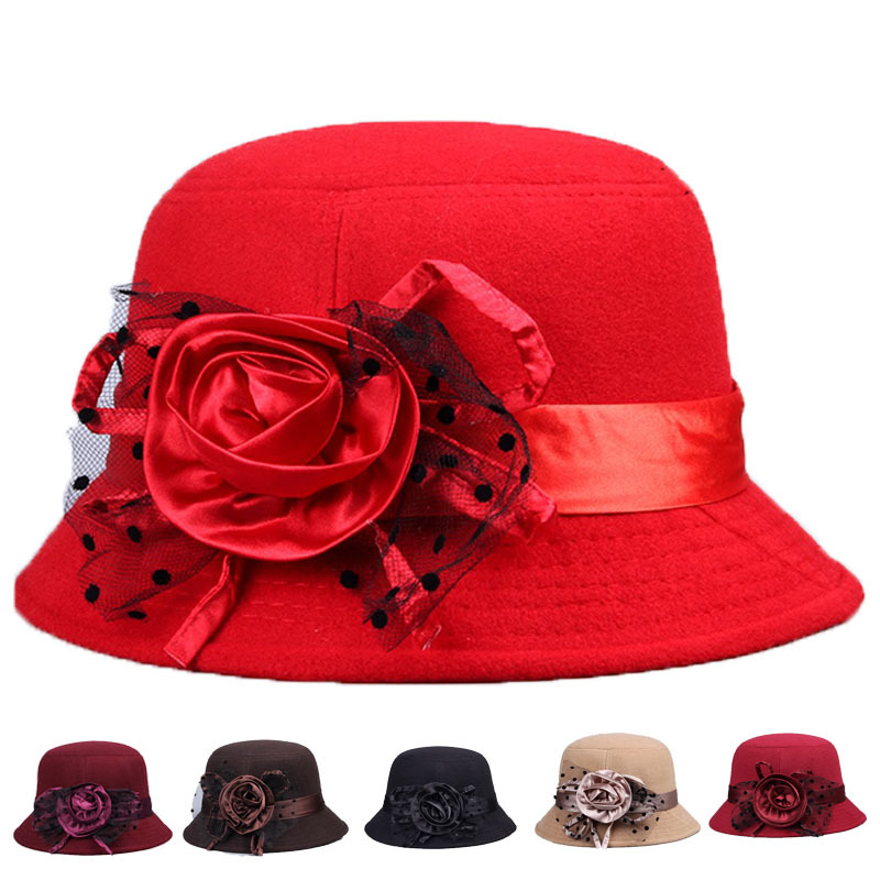Ladies Church Hat For Women Veil 6 Color Girls Felt Fedora Elegant Vintage Hat For Women Floppy Bowler Evening Hats 2015 Casual(China (Mainland))