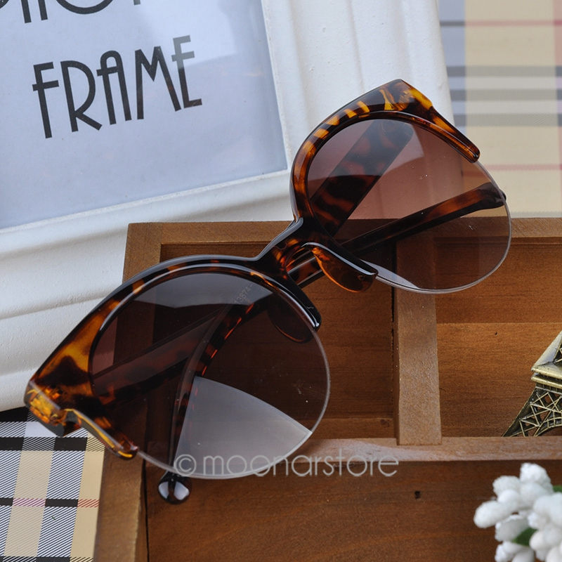 Free shipping Vintage Retro Cat Eye Round Sunglasses Fashion Stylish Semi Rim Eyewear Eyeglasses MPJ093 A1