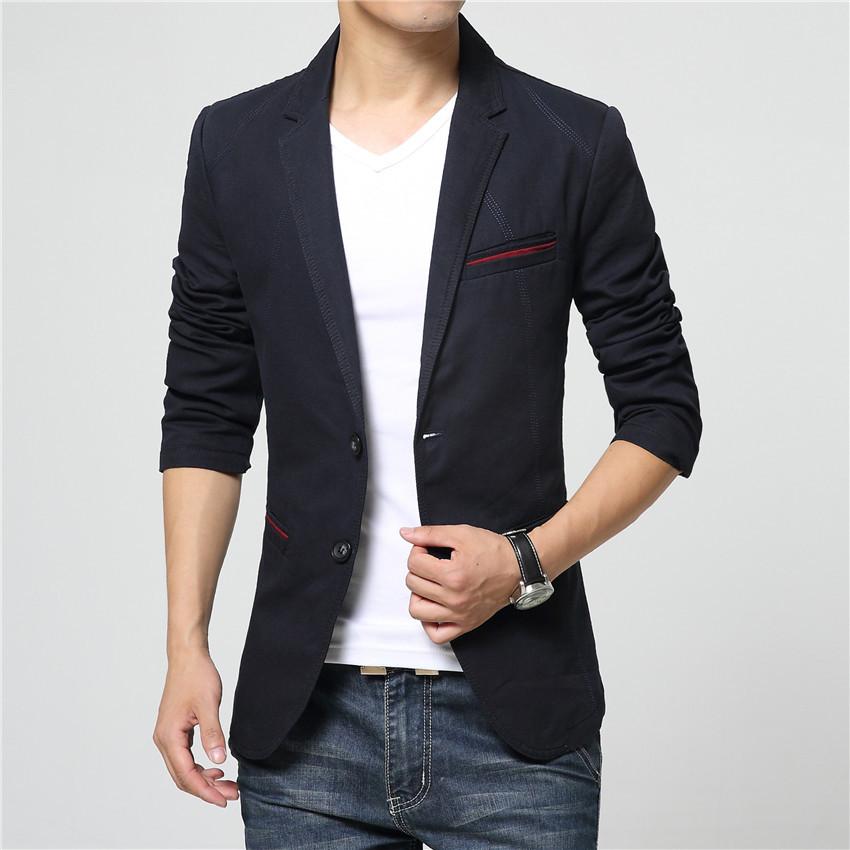 High Quality Brand 2016 New Arrival Men Blazer Slim Fit Jacket Casual Fashion Mens Blazer Jacket Suit For Men Size M-5XL(China (Mainland))