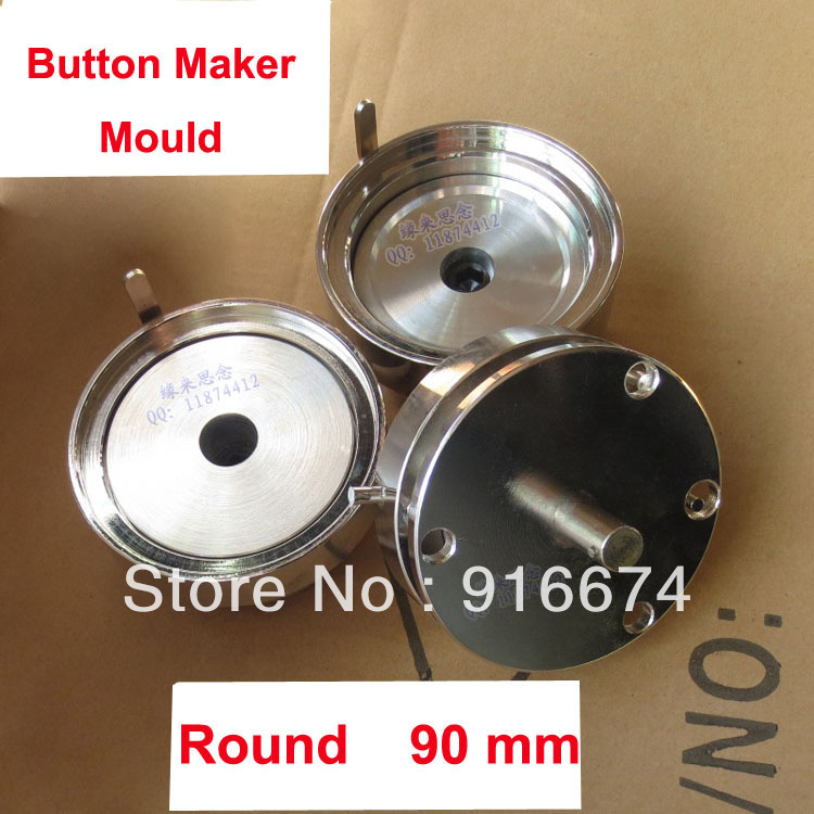 Fast Free shipping Discount Professional 90mm Button Maker Mould  3.5 inches Die Mould for Button Maker<br><br>Aliexpress