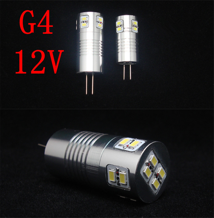 G4 1W/2.5W/3W/4W/5W/6W/7W Warm White / white Light LED Spot Bulb (12V) free shipping(China (Mainland))