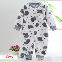 2016 High quality Flannel Baby Boy girl Winter Clothes Thickening Baby Rompers Coverall Baby Clothing Freeshipping