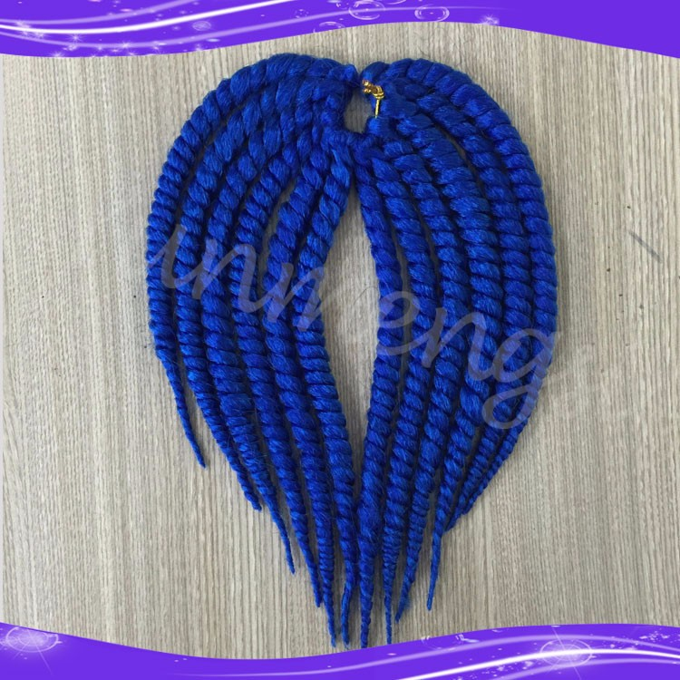 Havana Mambo Twist Crochet Braid Hair Synthetic Ombre Kanekalon Kinky Marley Twists Braiding Hair Extension06