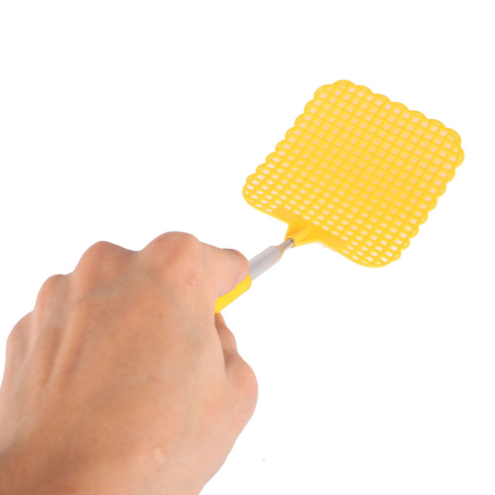 Stainless Steel Telescopic Fly Swatter Pest Killer Outdoor Random Color pest reject pest repeller repelente de mosquito