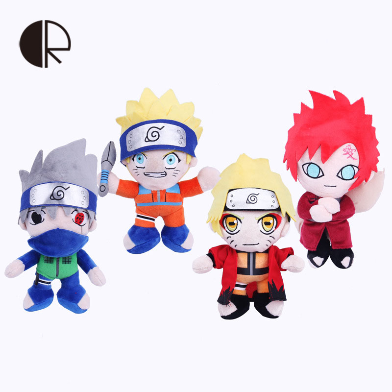 1pcs Japanese Anime Cartoon Doll Naruto Gaara Plush Toys Soft Stuffed Toys Plush Dolls Figure Toy for Kids Gifts 25cm(China (Mainland))