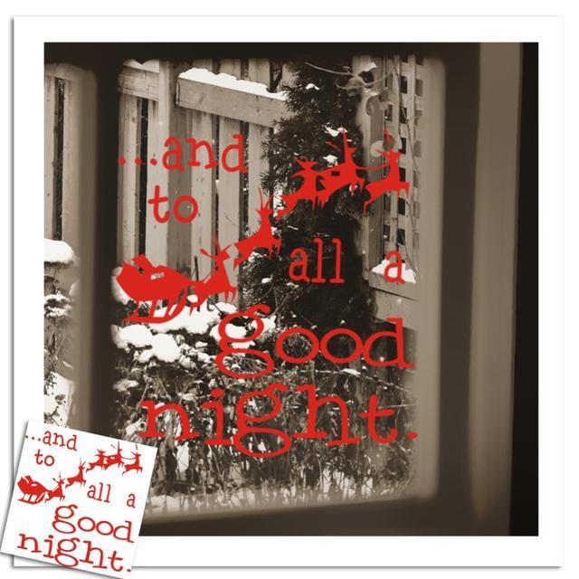 Дед мороз окно олень к a хорошая ночь витрина стена искусство украшение наклейка наклейка - xmas08
