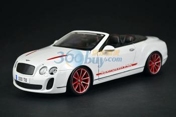 Bburago alloy BENTLEY isr roadster car model white