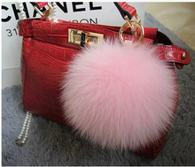 Acura back 10cm fox MAO MAO qiu hang bag transporting key mobile phone hang act the role of real natural leather(China (Mainland))