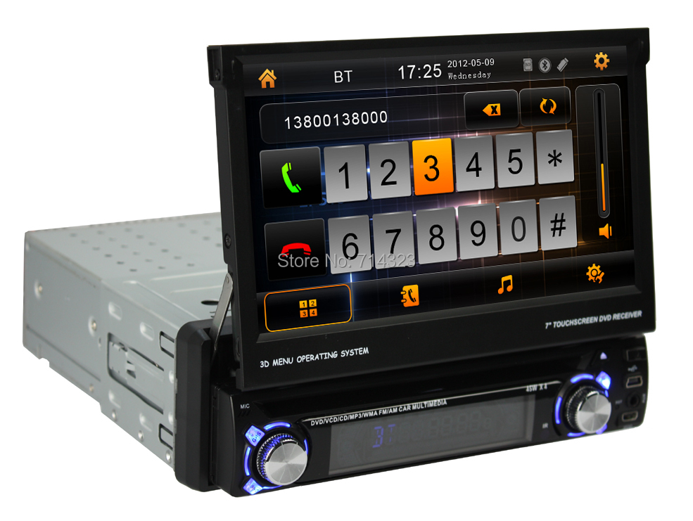 Car DVD GPS Navigation 1DIN Car Stereo Radio Car GPS Bluetooth USB/SD Universal Player(China (Mainland))