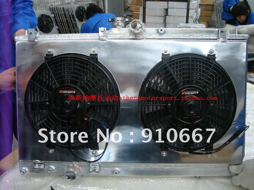 KL 1100cc all aluminum radiator with fan for chery 1100 4x4 buggies ,go karts ,cars(China (Mainland))