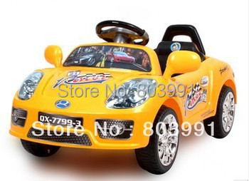 Children electric car car four pairs of drive remote control toy car Children sitting baby car battery
