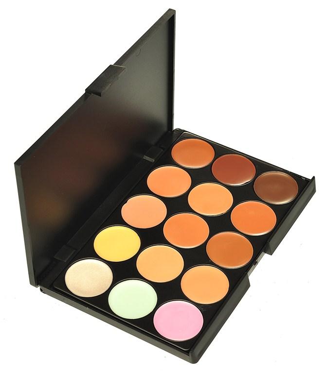 Professional 15 Color Face Concealer Palette Makeup Camouflage Make Up Neutral Palettes Set In