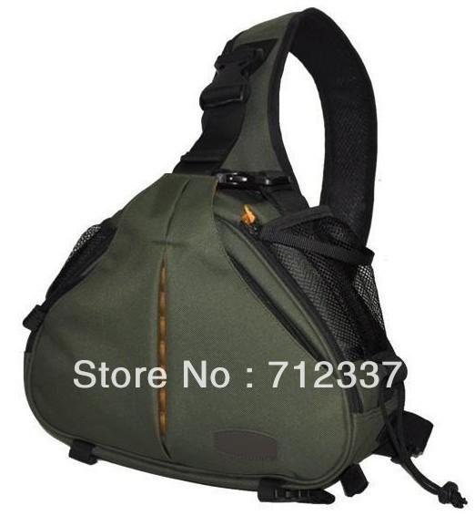 Caden K1 Shoulder Camera Bag Triangle Carry Case for Portable DSLR Camera green