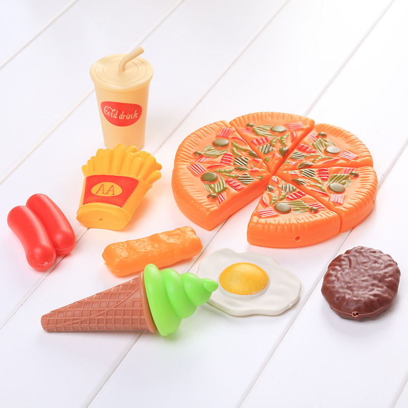 Hot Sale Creative Dazzling Pizza Party Cooking Cutting Accessories Pretend Kitchen Play Role Play Toy(China (Mainland))