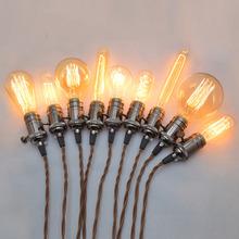 Edison incandescent light bulb Edison light bulb E27 pearl-black copper pendant light holder sold  with bulbs 110v 220V  40w(China (Mainland))