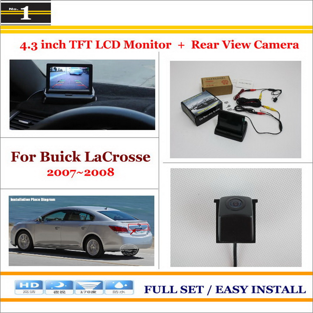 """Car Reverse Backup Rear Camera + 4.3"""" TFT LCD Screen Monitor = 2 in 1 Rearview Parking System - For Buick LaCrosse 2007~2008(China (Mainland))"""
