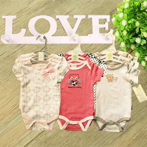 New 2015 Summer Carters Baby Girl Bodysuits Clothing Short Sleeve 100%Cotton Newborn Boy Fashion Next Baby Jumpsuit Clothes B3-8(China (Mainland))