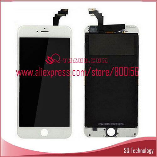 5pcs/lot LCD Display Touch Screen Digitizer Assembly for iPhone 6 Plus 6+ 5.5'' White Color Free Shipping By DHL / EMS(China (Mainland))