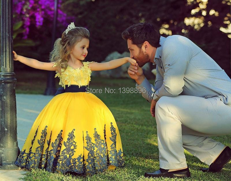 Yellow Lace Evening Gowns Yellow Ball Gown lace