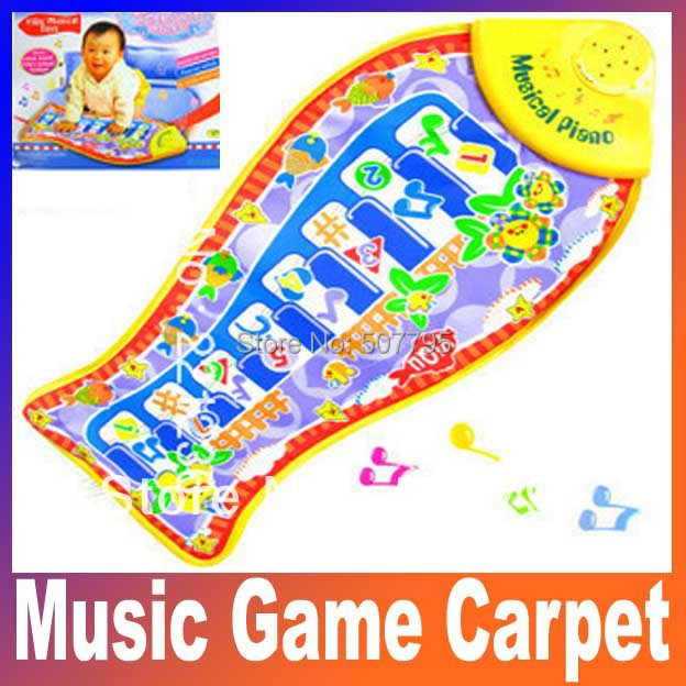 fish Animal Mat piano music game carpet Fashion Kid Children's Educational crawling play mat, baby toys blanket Free Shiping(China (Mainland))