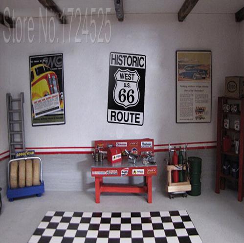 Papel de parede do escrit rio vender por atacado papel for Route 66 garage metz