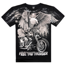 Fashion New 2015 mens t shirts Summer Cotton Loose clothes Short Sleeve O-Neck Casual sports Eagle Print 3D Pattern T-Shirts
