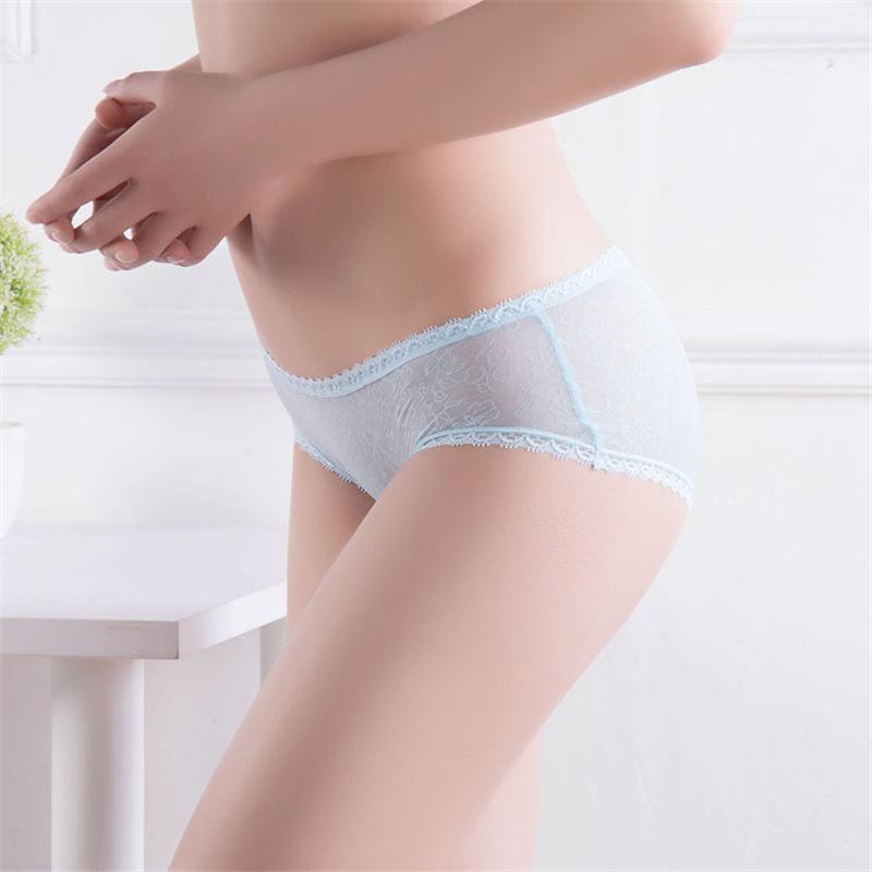 Summer 2016 panties Women's Sexy Full Panties Ice Silk Panty Girls Seamless Briefs Ladies Slim Transparent Intimates Underwear(China (Mainland))