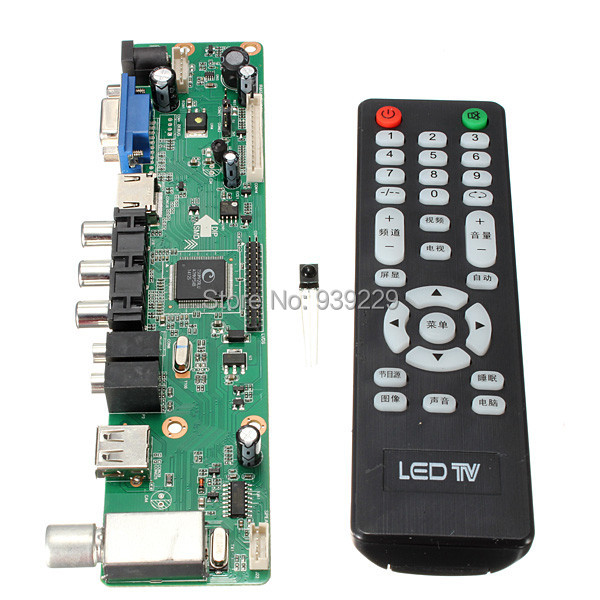 Universal LCD Controller Board 1920*1080 Resolution TV Motherboard VGA/HDMI/AV/TV/USB HDMI Interface Driver Board Free Shipping(China (Mainland))